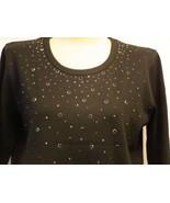 Christine Alexander black shirt fuller fit Silver Shower size small - $51.20