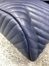 AUTH CHANEL NAVY BLUE CHEVRON QUILTED LEATHER LARGE URBAN SPIRIT BACKPACK SHW image 6