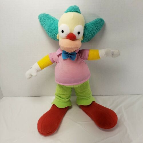 "The Simpsons KRUSTY THE CLOWN Plush Stuffed Doll Toy 11.5"" Universal Studios  - $18.37"