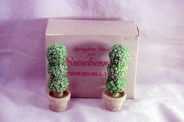 Dept 56 Snowbunnies Shrubs In A Tub 2 Piece Springtime Stories Retired 1997 - $6.23