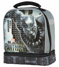 Marvel 34345 Panther Boy's Dual Compartment Soft Lunch Box (/Grey), One ... - $12.96