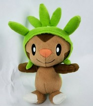 "Tomy Pokemon Chespin 7"" Plush Nintendo Pocket Monster Brown Green Stuffe... - $14.52"