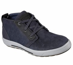 Men's Skechers Porter - Malego Mid Top Oxford Shoes, 65144 /NVY Sizes 8-14 Navy - $69.95