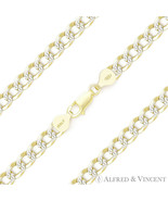 Cuban Curb Sterling Silver 14k Yellow Gold Men's 5mm Link Italy Chain Br... - $27.71+