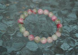 Cyber Monday Sale Mixed Jade Pink white green 8 mm Mala Beads Bracelet -... - $24.98