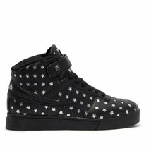 New FILA VULC 13 Big Stars High Top Shoes 5CM01041-004 Black Silver Wome... - $62.95
