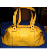 Dana Buchman Large Doctor Bag Shoulder Bag Satchel Mustard Yellow Pre-owned - $19.00