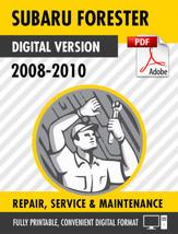 2008-2011 Subaru Forester Factory Repair Service Manual - $9.90