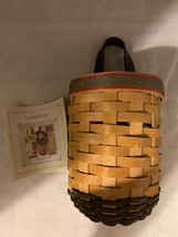 Longaberger Basket 2002 Santa's Helper with Plastic Protector and Card - $28.04