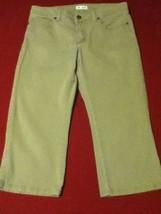 Ladies Size 6P Lee capri jeans pants lower on the waist khaki - $14.25