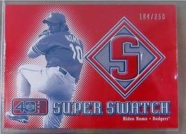 2002 Upper Deck 40-Man Super Swatch #SHN Hideo Nomo - $41.96