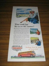 1947 Print Ad National Trailways Bus System Happy Passengers in Buses - $9.49