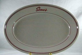"Homer Laughlin Shaws Restaurant #DDB-1 Oval Platter 12 1/4"" - $9.44"
