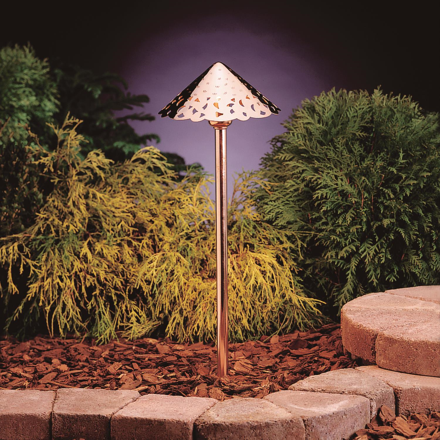 Primary image for Kichler 15843CO27 Landscape led Landscape 8in 3-light
