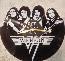 DIY  VAN HALEN Decorative Designed Modern Vinyl Record Wall Clock Silent L - $29.74