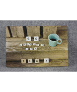 Photo Notecard Go Outside and Play Scrabble letters 4x6 Blank Notecards  - $4.25