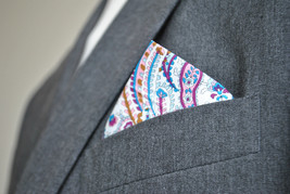 Frederick Thomas multi coloured paisley pocket square handkerchief FT2131