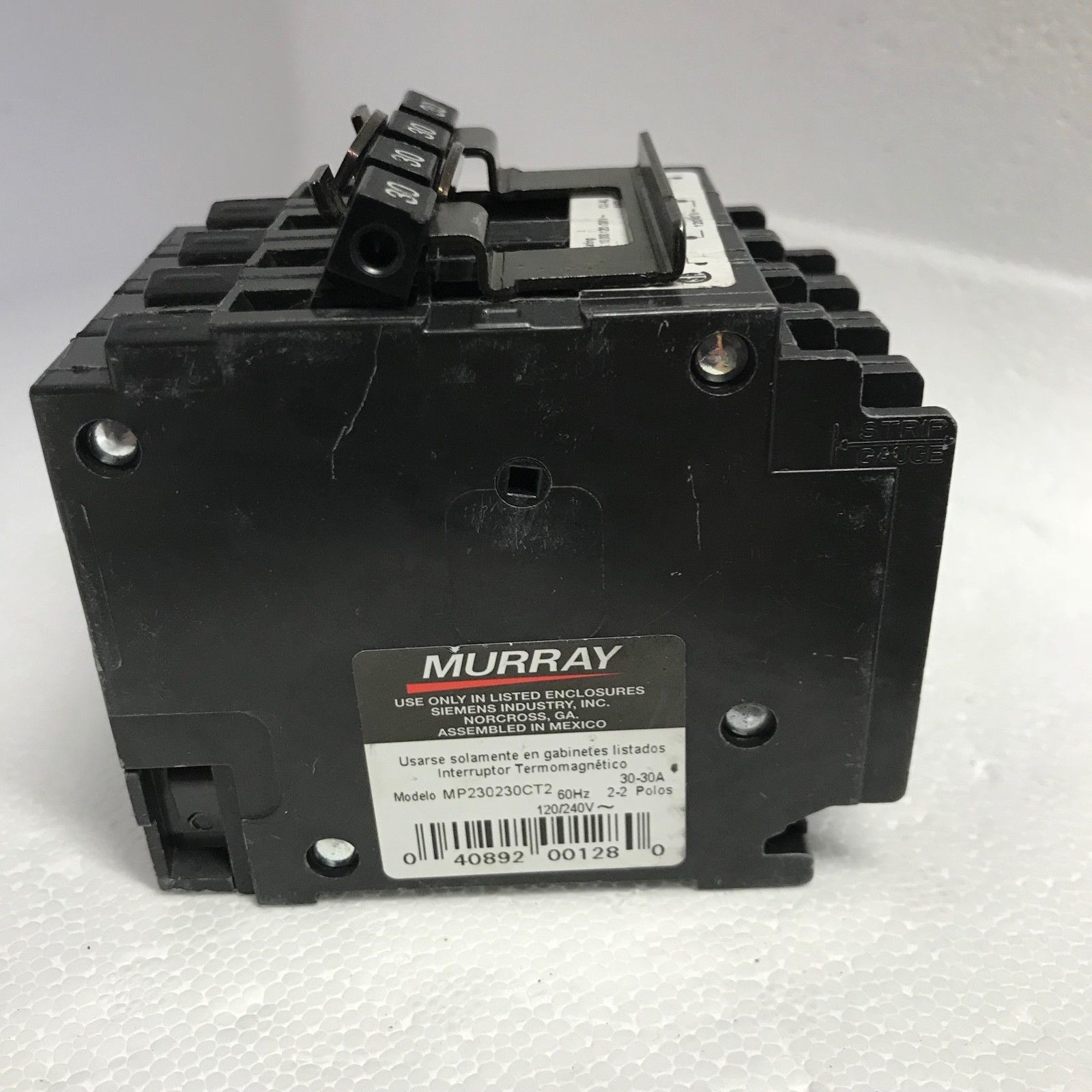 Murray (2) 30 Amp Double-Pole Type MP-T Quad Plug-In Circuit Breaker MP230230CT2