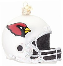 Old World Christmas Arizona Cardinals Helmet Glass Blown Ornament - $9.86