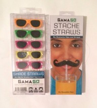 GAMA GO Clip On Shade Sunglasses Straws & Musta... - $17.72