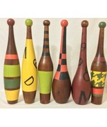 Lot Of 6 Wood Juggling Pins home decor  - $346.50