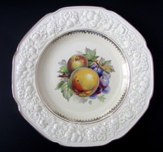 "Crown Ducal Florentine Embossed Rim Apple and Grape 10 1/2"" Serving Plate - $20.57"