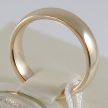 18K YELLOW GOLD WEDDING BAND UNOAERRE COMFORT RING MARRIAGE 5 MM, MADE IN ITALY image 2