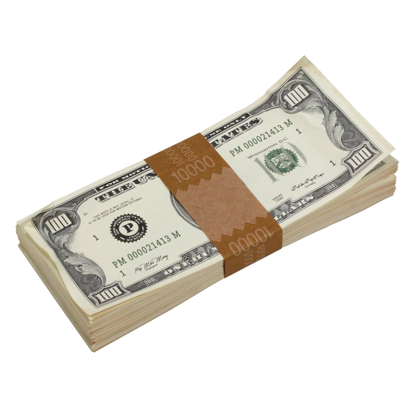 1980s Series $100s Aged $1,000,000 Full Print Package Realistic Prop Money image 4