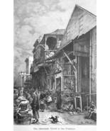 SAN FRANCISCO China Town - 1883 German Print - $21.60
