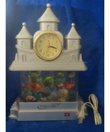 "FISH LAMP Castle with Clock 14"" - $44.54"