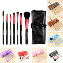 7Pcs Makeup Brushes Tool Set Cosmetic Eyeshadow Face Powder Foundation L... - $9.58