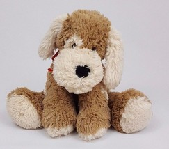 Animal Adventure Brown Puppy Dog Plush Red Scarf Stuffed Animal Toy 2007... - $20.79