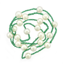 10mm Pearl & Natural Emerald Necklace - $454.41
