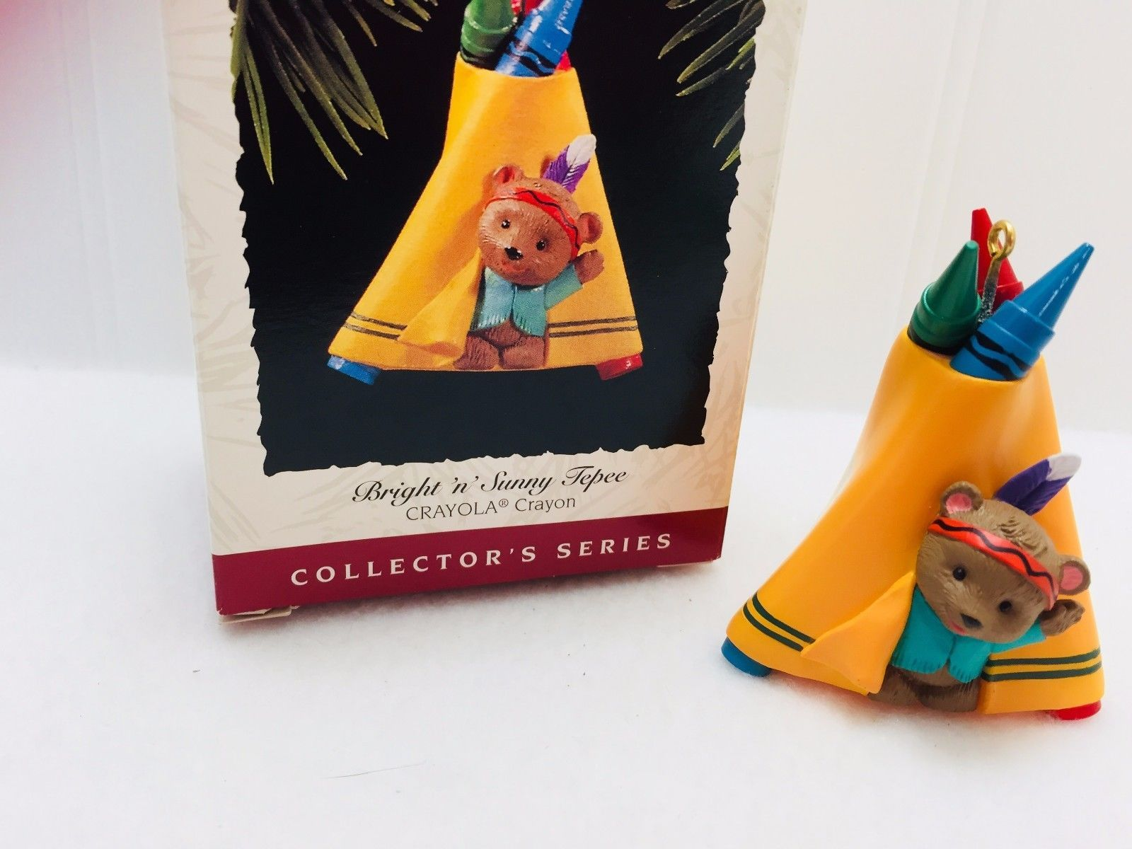 Primary image for Hallmark Keepsake Ornament 1995 Crayola Crayon Bright N Sunny Tepee 22440 Vntage