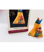 Hallmark Keepsake Ornament 1995 Crayola Crayon Bright N Sunny Tepee 2244... - $9.64