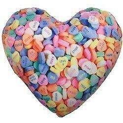 2 Scoops Valentine's Microbead Pillow - Conversation Heart