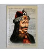 Vlad Țepeș The Impaler Vampire Dracula Dictionary Page Art Print - $11.00