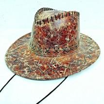 Australian Western Style Outback Cowboy Bush Hat Wide Brim Costume Novelty New - $11.87