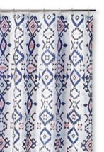 Sabrina Soto Olivia Fabric SHOWER CURTAIN  Blue Pink NWT Multi Colored Kids - $13.49