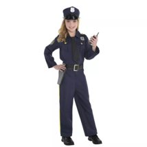 Kids' Police Officer Complete 5 Piece Halloween Costume L12-14 Amscan - $24.74