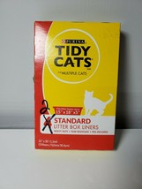 Tidy Cats Litter Box Liners Heavy Duty Tear Resistant Ties Included only 2 - $16.83