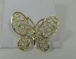 Vintage Gold Tone Butterfly Pin Brooch - $13.85