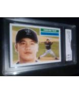 2005 Topps Heritage Chin-Hul Tsao GMA Graded 8.5 NM-MT+ Baseball Card Number 317 - $9.99