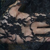 """Floral Stretch Lace Fabric 54""""/56"""" Wide By The Yard - Black - $7.48"""