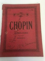 Chopin 25 Preludes Op 28 and 45 Pianoforte Edition Wood Music Book BFW 3... - $16.29