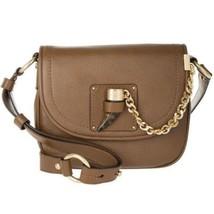 MICHAEL Kors James Pebbled Leather Saddle Bag Handbag Crossbody, Brown, NEW $348 - $158.00