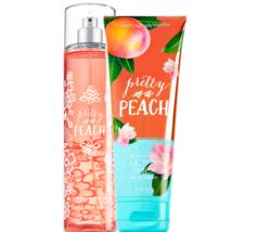 Bath & Body Works Pretty As A Peach Body Cream +  Fine Fragrance Mist Duo Set - $28.37