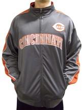 MLB Cincinnati Reds Men's Big & Tall Full Zip Tricot Reflective Track Jacket - $34.95+