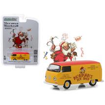 1969 Volkswagen Type 2 Panel Van Yellow with Red Top \Norman\s Toy Shop\... - $11.78