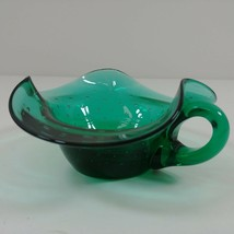 Art Glass Bowl w/ Handle Nut Candy Side Table Dish - $19.80